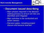 work transfer management33