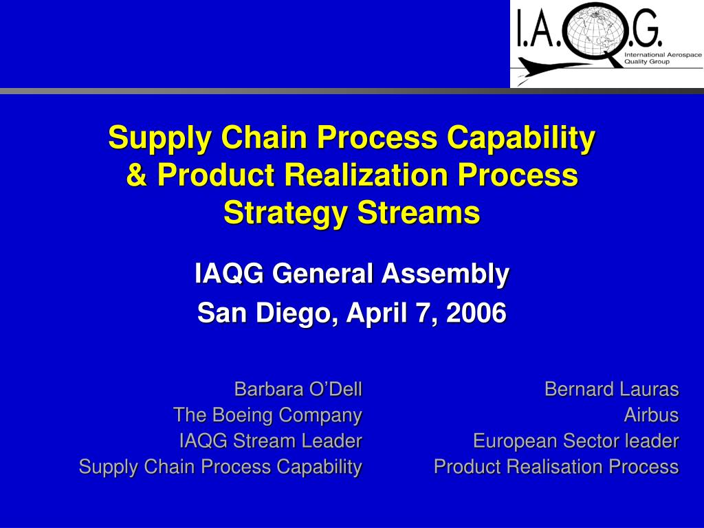 supply chain process capability product realization process strategy streams l.