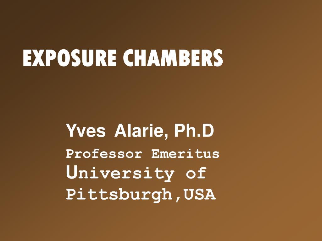 exposure chambers l.