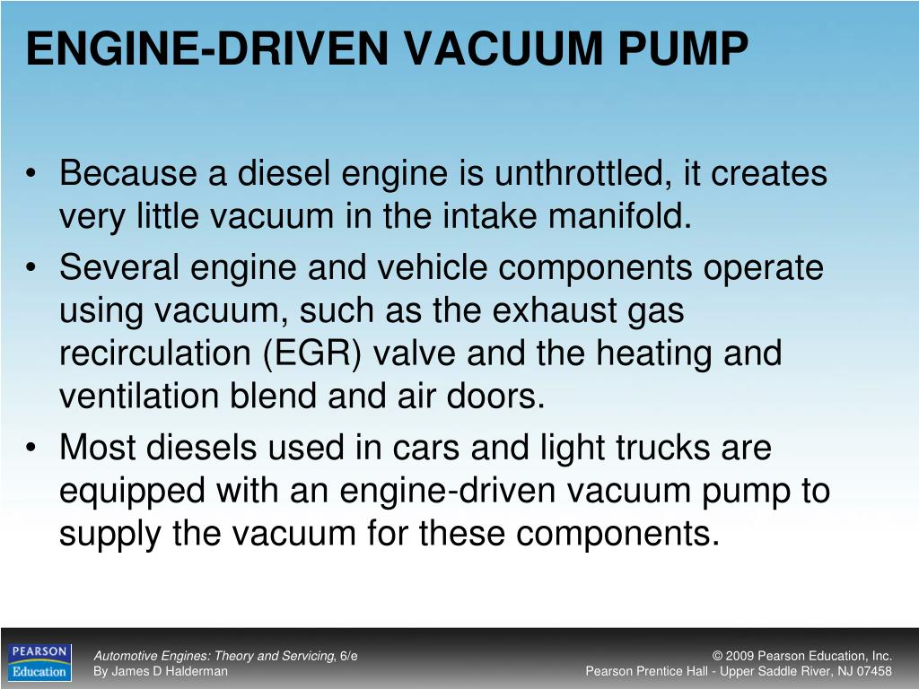 ENGINE-DRIVEN VACUUM PUMP
