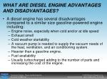 what are diesel engine advantages and disadvantages28