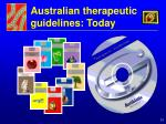 australian therapeutic guidelines today