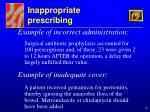inappropriate prescribing19