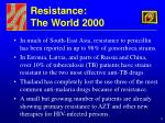 resistance the world 2000