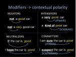 modifiers contextual polarity