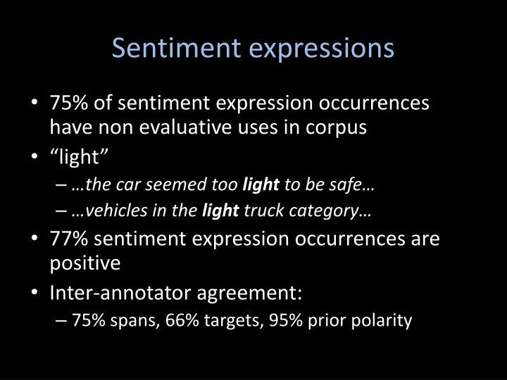 Sentiment expressions