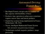 automated driving transit buses
