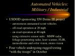 automated vehicles military industrial