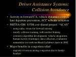 driver assistance systems collision avoidance