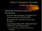 driver assistance systems collision warning13
