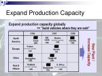 expand production capacity