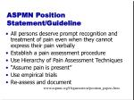 aspmn position statement guideline