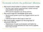 economic reform the politicians dilemma