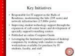 key initiatives47