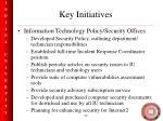 key initiatives52