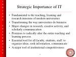 strategic importance of it