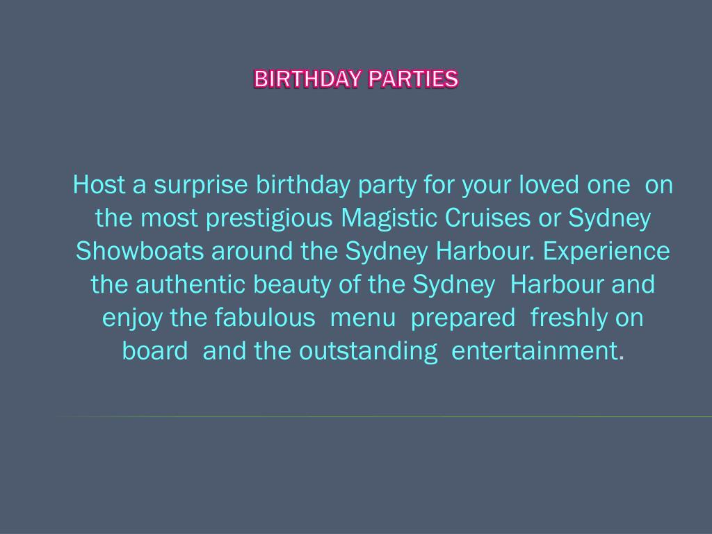 birthday parties l.