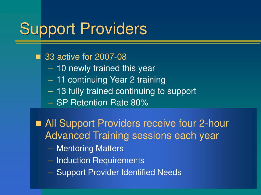 Support Providers