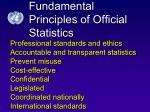 fundamental principles of official statistics