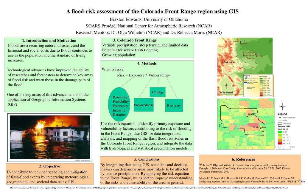 a flood risk assessment of the colorado front range region using gis l.
