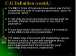 c g definition contd