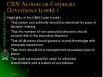 cbn actions on corporate governance contd14