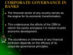 corporate governance in banks