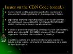 issues on the cbn code contd20