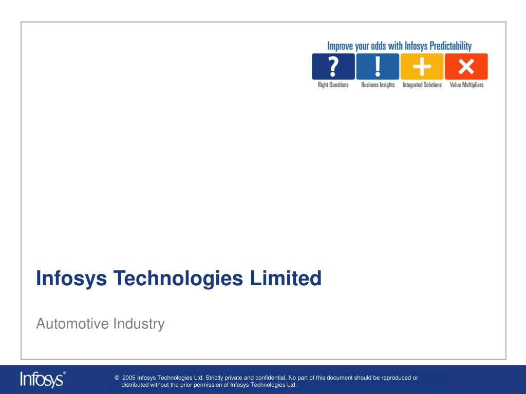 infosys technologies limited automotive industry l.
