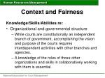 context and fairness34