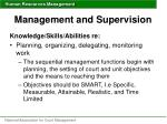 management and supervision43