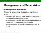management and supervision44