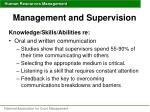 management and supervision47