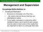 management and supervision50