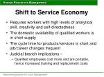 shift to service economy
