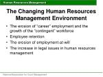the changing human resources management environment15