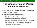 the empowerment of women and racial minorities