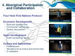 4 aboriginal participation and collaboration