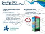 coca cola 100 carbon reduction plan