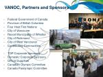 vanoc partners and sponsors