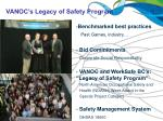 vanoc s legacy of safety program