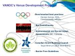 vanoc s venue development program