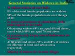 general statistics on widows in india