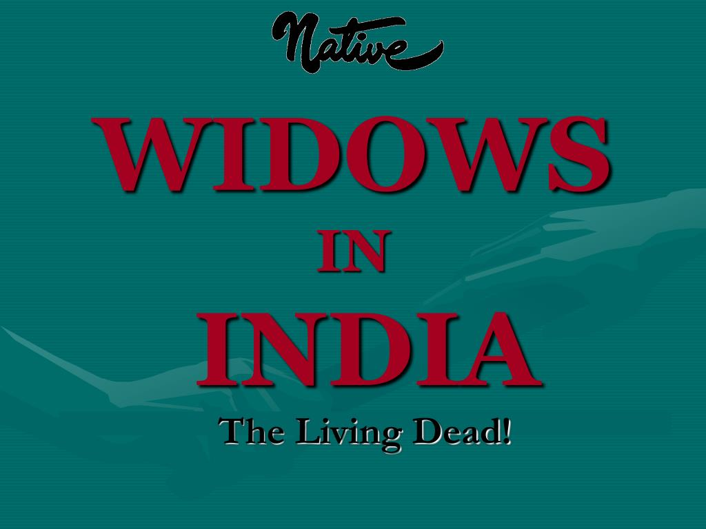widows in india l.
