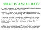 what is anzac day