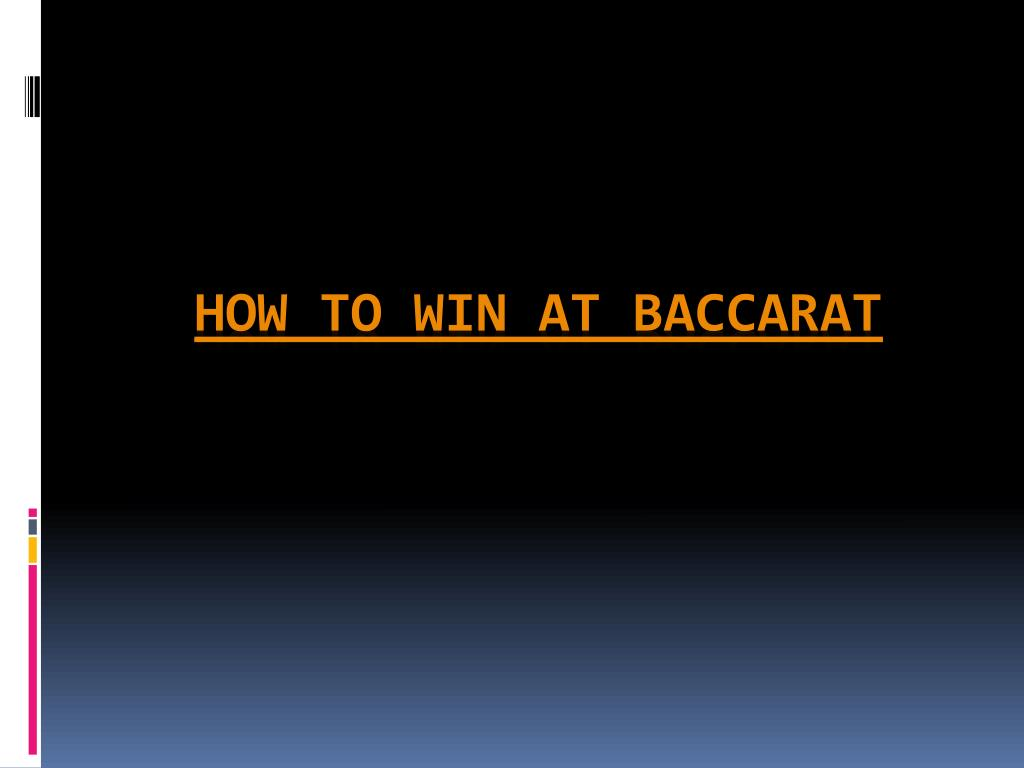 how to win at baccarat l.