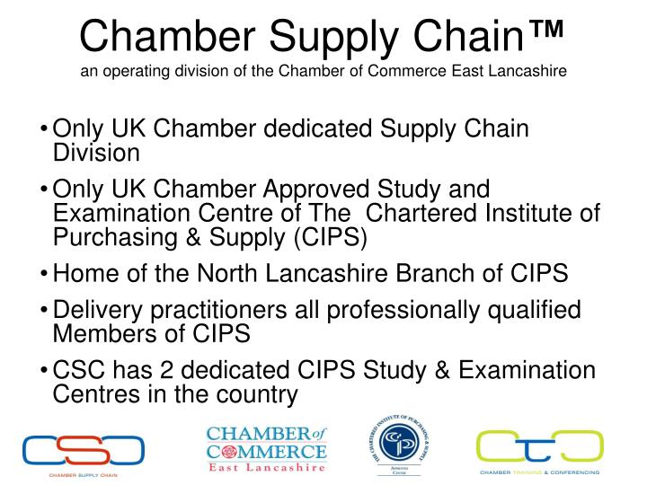 Chamber supply chain an operating division of the chamber of commerce east lancashire