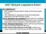 2007 biofuels legislative action