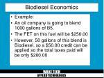 biodiesel economics29