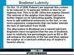 biodiesel lubricity21